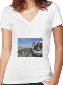 Top of the rock  Women's Fitted V-Neck T-Shirt