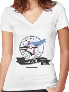 Toronto Blue Jays! Women's Fitted V-Neck T-Shirt