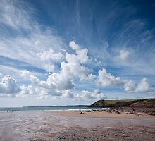 Manorbier Beach Pembrokeshire by Steve Purnell