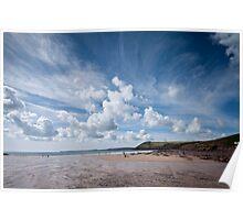 Manorbier Beach Pembrokeshire Poster