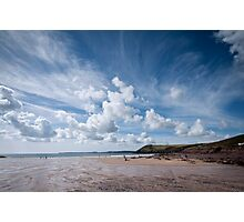 Manorbier Beach Pembrokeshire Photographic Print