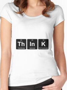 Th In K - Think - Periodic Table - Chemistry Women's Fitted Scoop T-Shirt