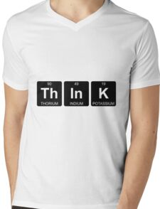 Th In K - Think - Periodic Table - Chemistry Mens V-Neck T-Shirt