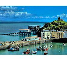 Tenby Harbour Pembrokeshire 2 Photographic Print