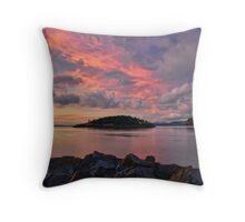 Deception Pass Sunset Throw Pillow