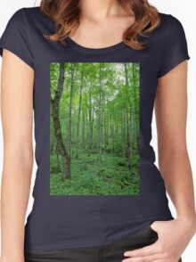 Green Forest Women's Fitted Scoop T-Shirt