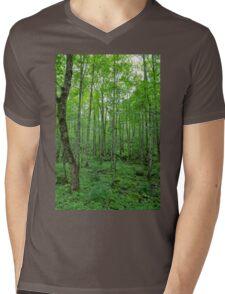 Green Forest Mens V-Neck T-Shirt