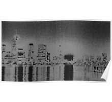 Perth Skyline in Charcoal Poster