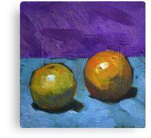 oranges on purple Canvas Print