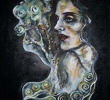 """Black cat (G. Klimt inspired)"" by Tatjana Larina"