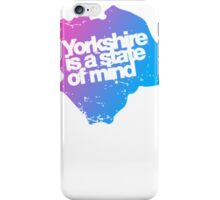 Yorkshire is a state of mind - Pink/blue iPhone Case/Skin