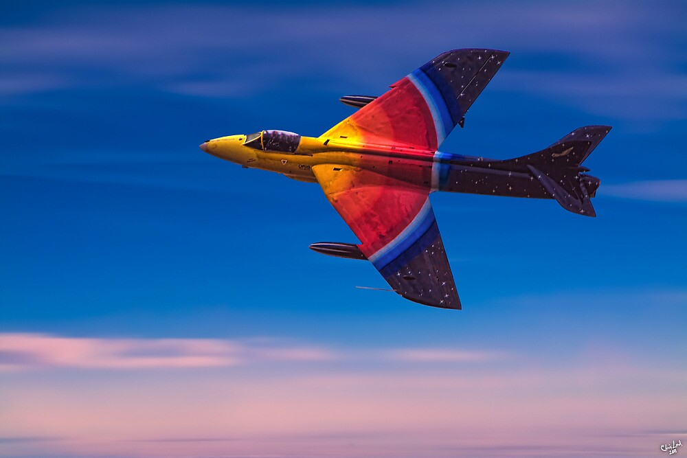 "Hawker Hunter F58 ""Miss Demeanour"" by Chris Lord"