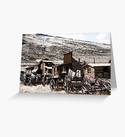 Old West Town Greeting Card