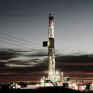 Drilling Rig at sunset by Angela E.L. Clements