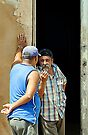 Shooting the breeze, Trinidad, Cuba by David Carton