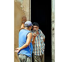 Shooting the breeze, Trinidad, Cuba Photographic Print