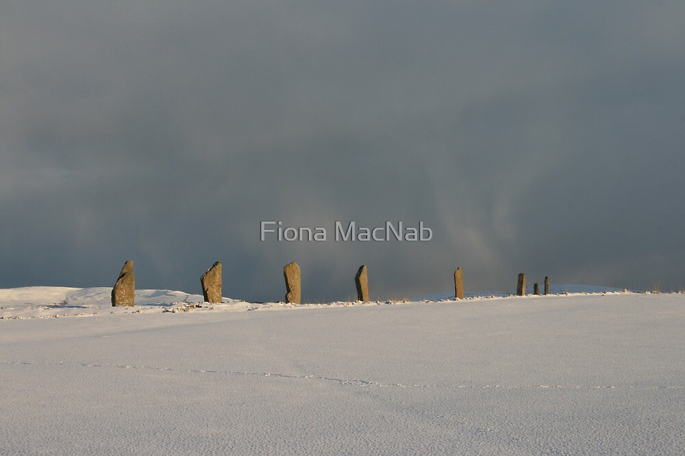 Brodgar Snowstorm by Fiona MacNab