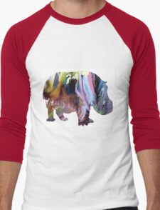 Hippopotamus Men's Baseball ¾ T-Shirt