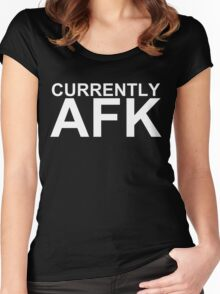 Currently AFK (Reversed Colours) Women's Fitted Scoop T-Shirt
