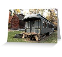 Old Time Train Car Greeting Card