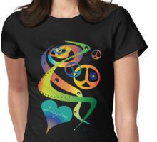 Swirls Of Peace Womens Fitted T-Shirt