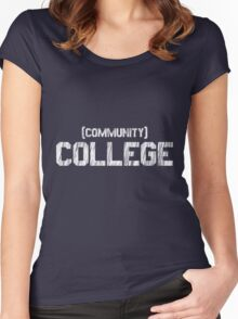 (Community) COLLEGE Women's Fitted Scoop T-Shirt