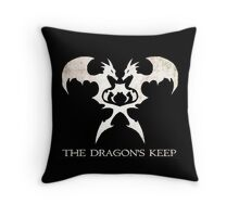 The Dragon's Keep Throw Pillow