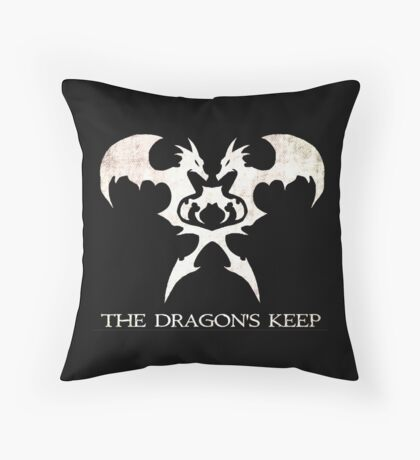 The Dragon's Keep Throw Pillow