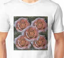 Peach rose art Unisex T-Shirt