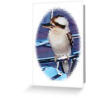 Kookaburra on a chair Greeting Card