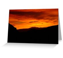 Flaming sky at sunset, Valle de la Luna, Chile Greeting Card