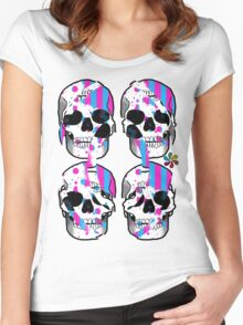Color Skulls Women's Fitted Scoop T-Shirt