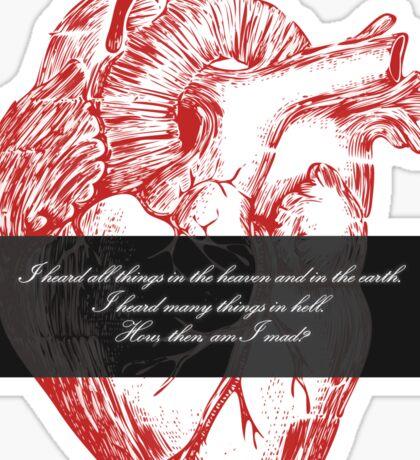 Edgar Allan Poe - Telltale Heart Sticker