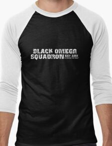 Black Omega Squadron Men's Baseball ¾ T-Shirt
