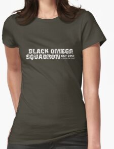 Black Omega Squadron Womens Fitted T-Shirt