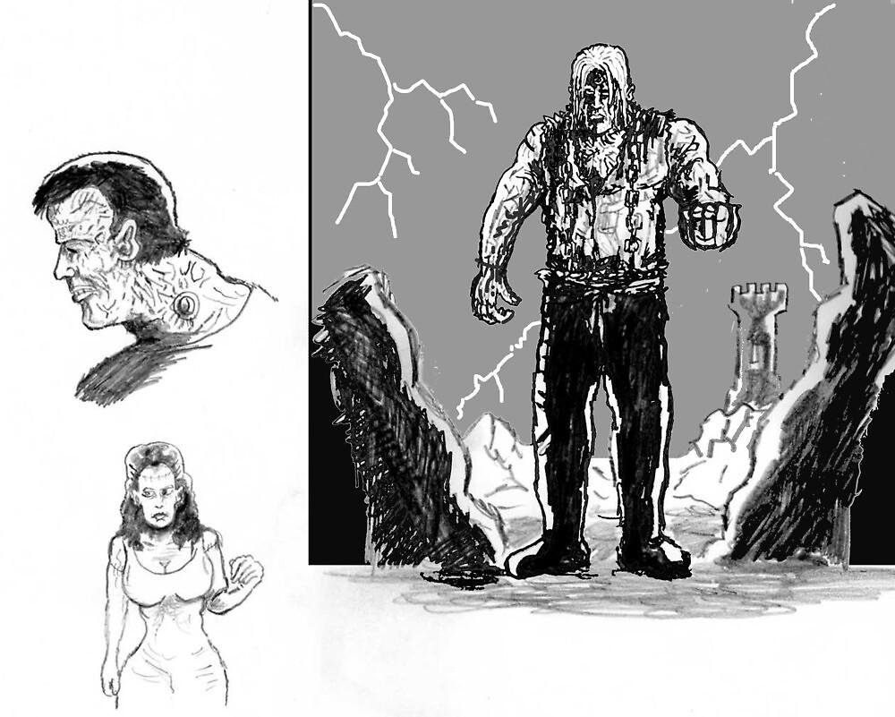 Frankenstein sketches by mattycarpets