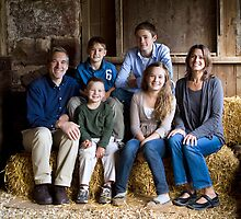 Family Portrait in the Barn by Mark Van Scyoc