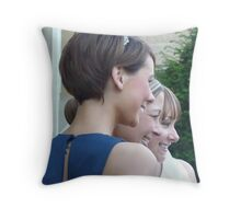 Smiles All Round Throw Pillow