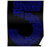Babylon 5 Quotes - Blue Poster