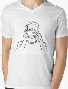 Man with a phone Mens V-Neck T-Shirt