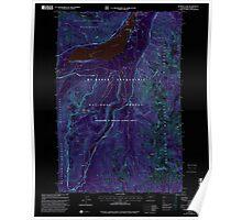 USGS Topo Map Washington State WA Bumping Lake 240269 2000 24000 Inverted Poster