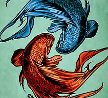 Fighting Fish by James Fosdike