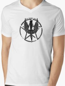 Supernatural Demon Hunting Crest Mens V-Neck T-Shirt
