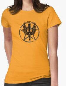 Supernatural Demon Hunting Crest Womens Fitted T-Shirt