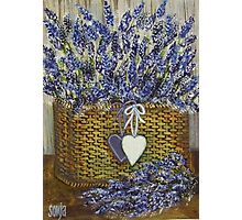 Lavender in Basket  Photographic Print