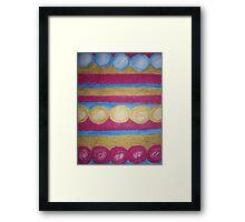Beads in pastel Framed Print
