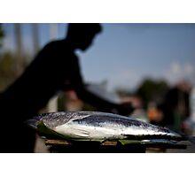Fish Monger Silhouette Photographic Print