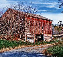 Red Barn. Blue Sky by Marcia Rubin
