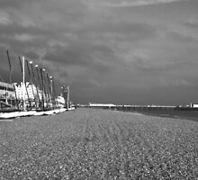 Boats by Brighton Beach by Andy Broomfield