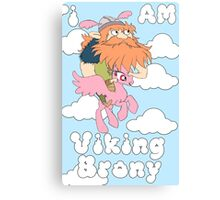 Viking Brony Canvas Print
